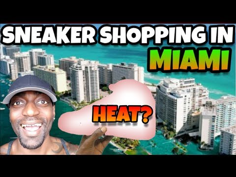 SNEAKER SHOPPING IN MIAMI LOOKING FOR HEAT EPIC FAIL VLOG PT1!!!