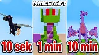Minecraft BUDUJĘ SMOKA W 10 SEKUND, 1 MINUTĘ I 10 MINUT!