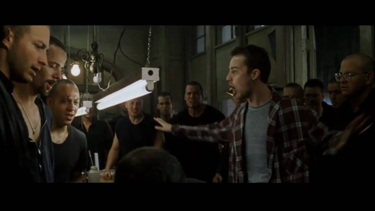 a synopsis of the movie fight club essay The movie fight club offers a solution which is living in a dilapidated house where one can reject all the influences of the outside world and consumerism you can order a custom essay, term paper, research paper, thesis or dissertation on any topic from our professional custom essay writing service.