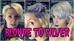 How to:  Silver Hair - Manic Panic | Virgin Snow, Violet Purple Dye Mix