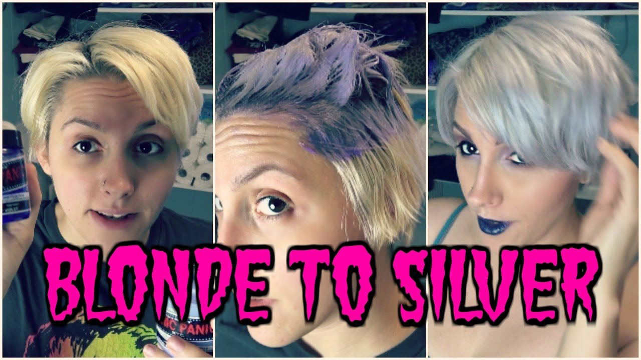 How To Silver Hair Manic Panic Virgin Snow Violet Purple Dye Mix You