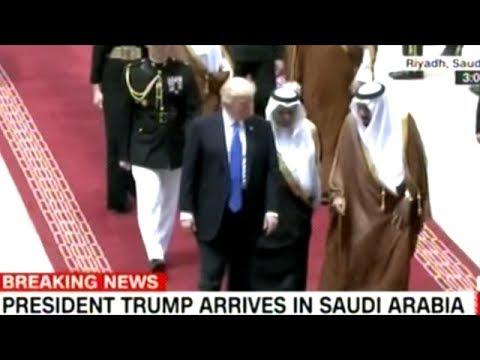 Saudi King Greets President Trump Upon Landing In Riyadh