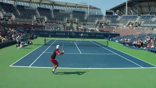 Denis Istomin drills and full practice set at the US Open 2017. (Full HD/60fps)