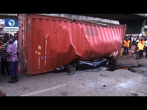 Container Falls Off Trailer, Kills Three In Ojuelegba