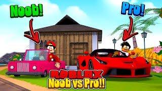 ROBLOX - NOOB vs PRO, VEHICLE SIMULATOR!!