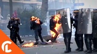 Violents débordements dans la manifestation du 1er Mai  (1er Mai 2017, Paris)