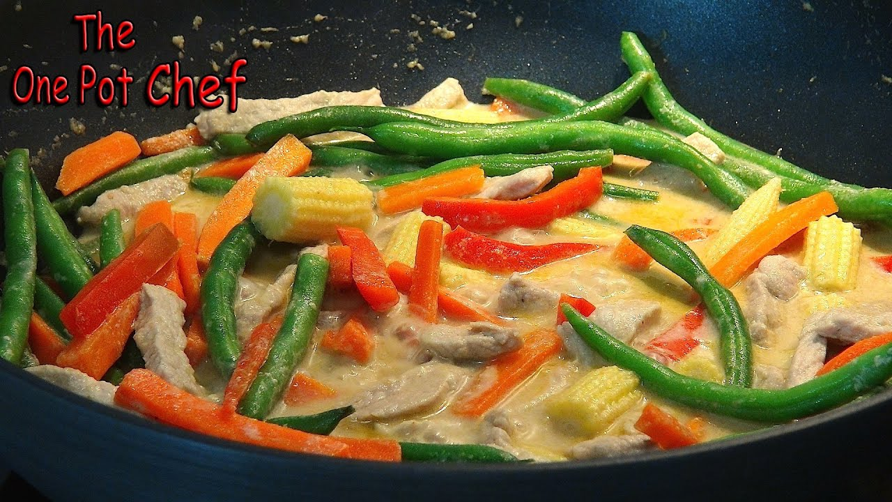 Quick and easy thai green curry one pot chef youtube forumfinder Choice Image