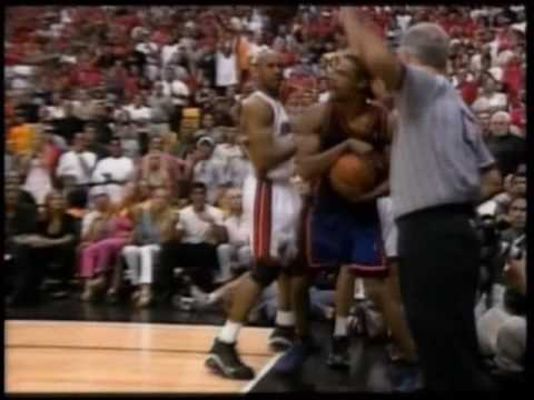 NBA on NBC - 2000 NBA Playoffs - New York Knicks @ Miami Heat, game 7 finish (3/3)