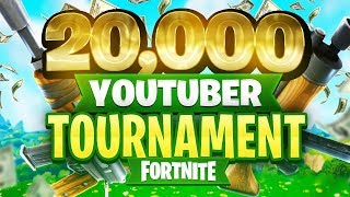 $20,000 YouTuber/Streamer FORTNITE TOURNAMENT (Week 8)