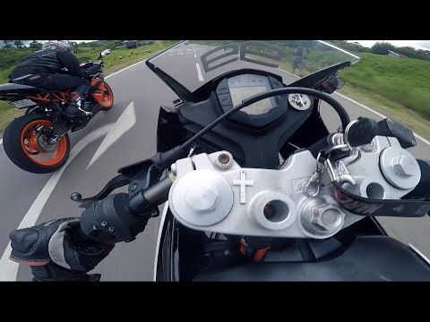 GoPro Hero Full Raw footage KTM RC 200 2017 VS KTM RC 200 2019