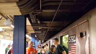 MTA NYC Subway: (R) (W) Local and (N) (Q) Express trains at 23 St (BMT Broadway Line)