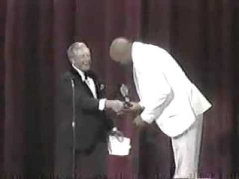 Ray Bolger Presents Tony for Best Director to The Wiz 1975