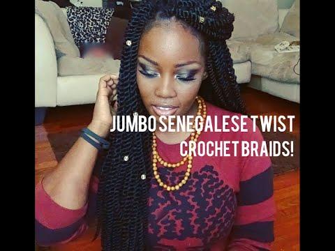 JUMBO SENEGALESE TWIST CROCHET BRAIDS YouTube