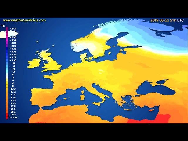 <span class='as_h2'><a href='https://webtv.eklogika.gr/' target='_blank' title='Temperature forecast Europe // modelrun: 00h UTC 2019-05-22'>Temperature forecast Europe // modelrun: 00h UTC 2019-05-22</a></span>