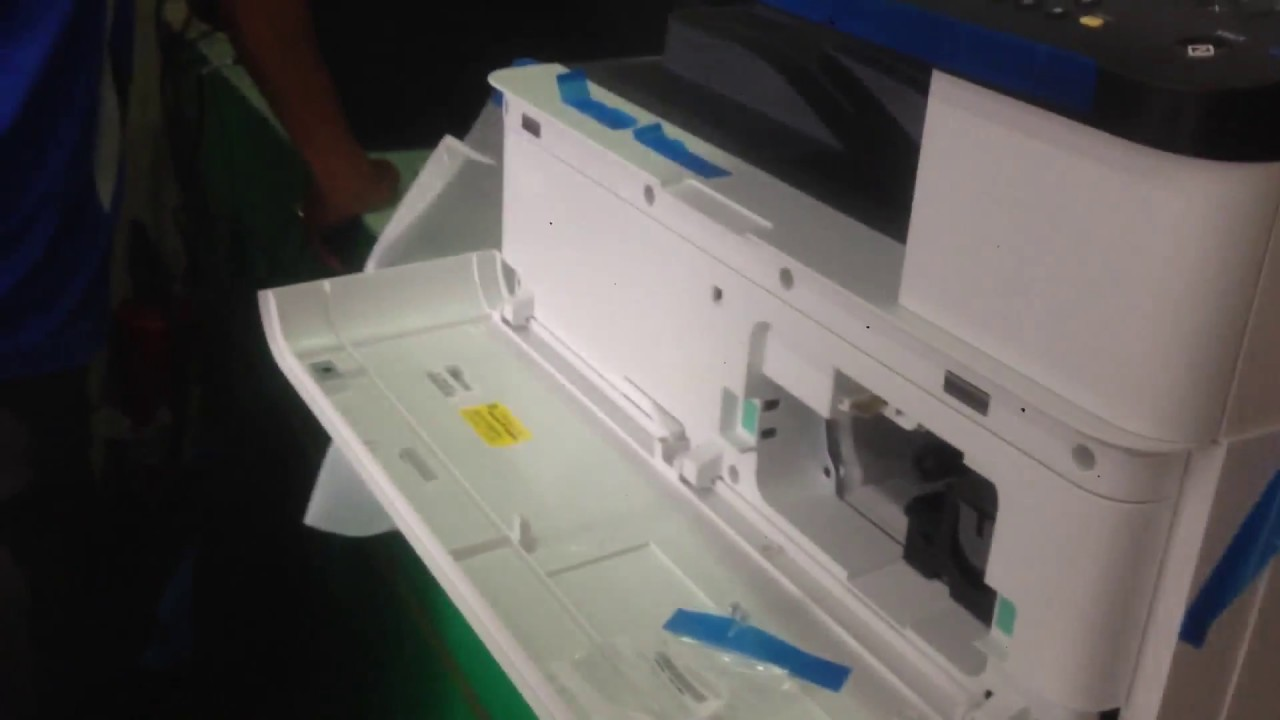 Unboxing And Setting Up The Hp Laserjet Mfp M436nda Printer Youtube