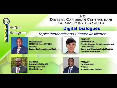 ECCB Digital Dialogues - Pandemic and Climate Resilience