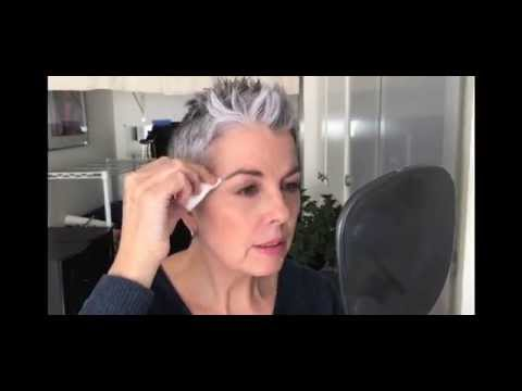 Quick Eyebrow Color - Tint Grey Hairs Using \