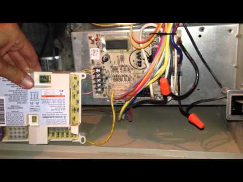 Part 1 Trane circuit board replace - YouTube X Trane Furnace Wiring Diagrams on