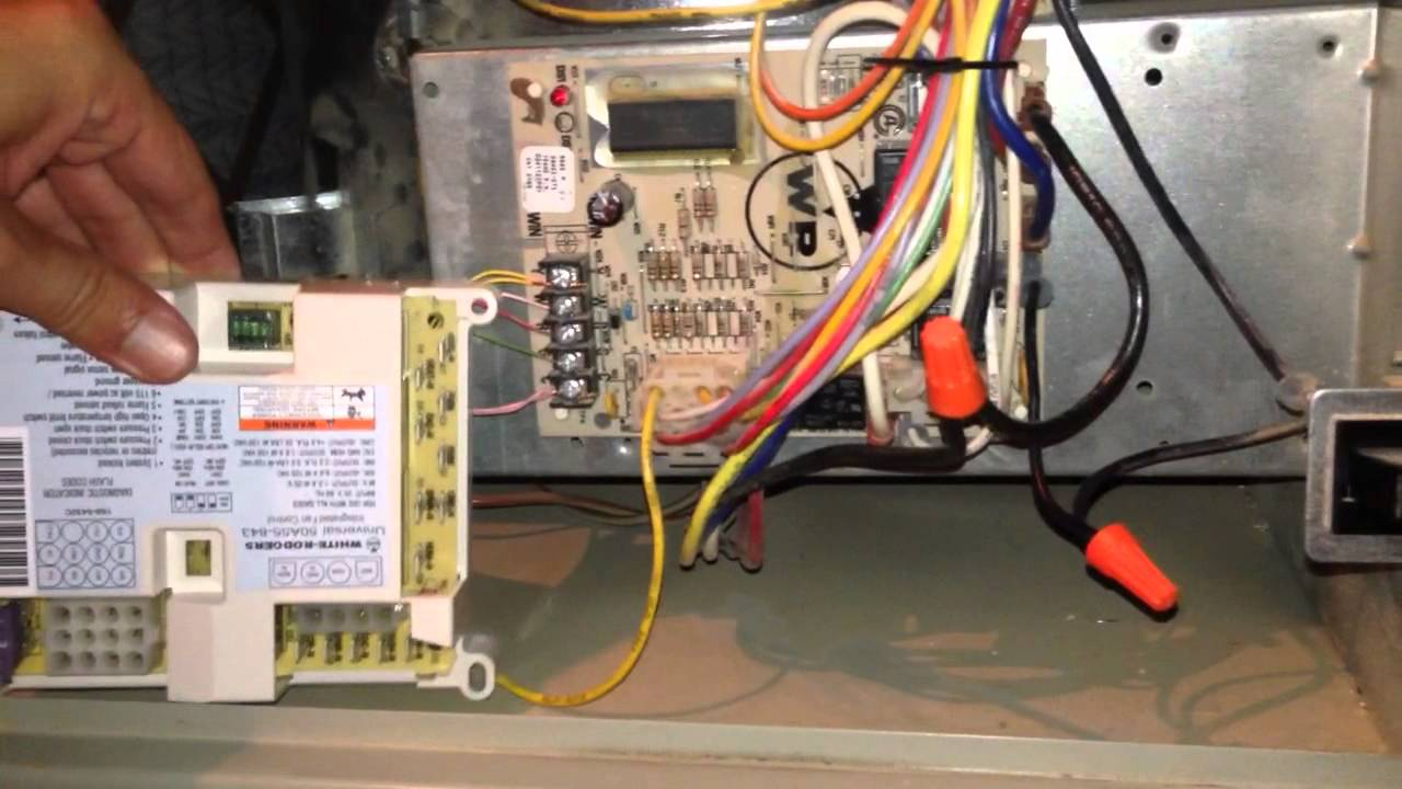 Part 1 Trane circuit board replace  YouTube
