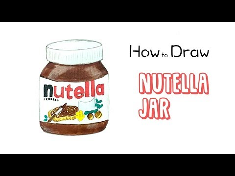 How To Draw A Nutella Jar