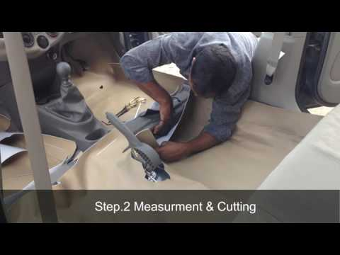 How to install leather flooring in car | Car Floor Lamination