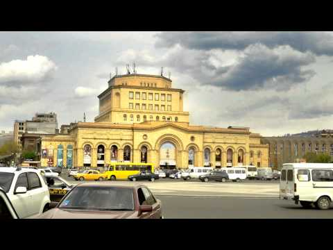 Yerevan Republic Square Motion Timelapse