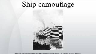 Ship camouflage