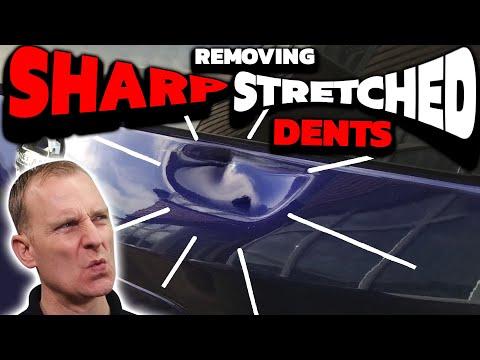 SHARP STRETCHED DENT GONE! | NO Filler & No Paint!