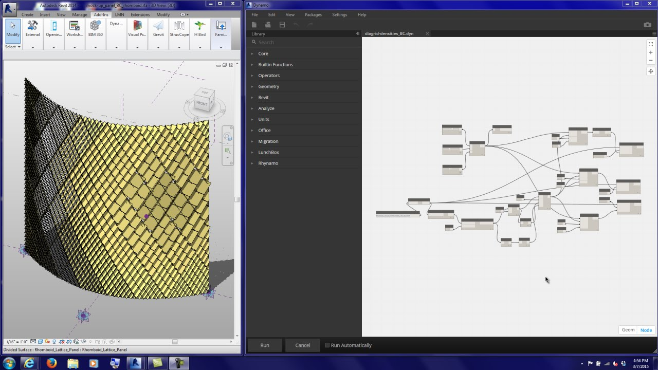 20150307 Tutorial Dynamo Diagrid Densities Point Attractor