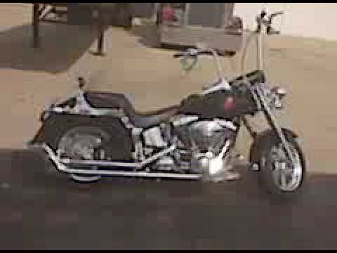 2005 Harley Davidson >> 2005 Harley Davidson fatboy with Loud Fishtail Pipes For Sale - YouTube