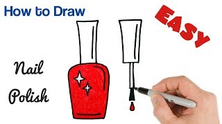 How to Draw Nail Polish Easy Drawing Art Tutorial for Beginners