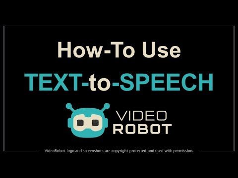 How to Use Text-to-Speech in VideoRobot