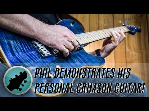 Phil Walker Demos His Own Personal Crimson Guitar!  (Loop Solo Performance)