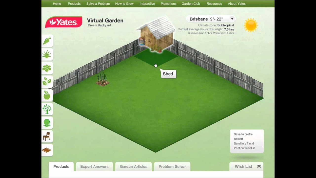 Using yates virtual garden design youtube for Garden design yates