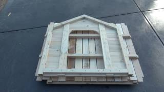 DIY FLAT PACK Dog House (kennel) made from shipping pallets & free tin