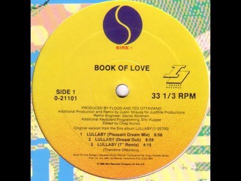 "Book Of Love ‎– Lullaby (Pleasant Dream Mix) 12"" Vinyl 1989"