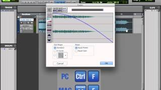 Avid Pro Tools 10 Tutorial | Fades and Crossfades