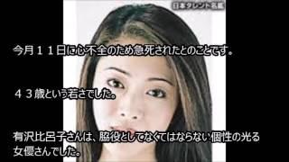 訃報 女優 有沢 比呂子さん死去 大谷玲凪 検索動画 23