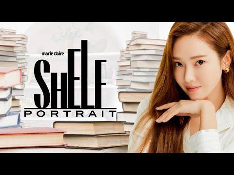 K-Pop Star Jessica Jung Gives A Tour of Her Colorful Bookshelf   Shelf Portrait   Marie Claire