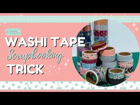 Washi Tape Scrapbooking Trick! | Scrapbooking With Washi Tape DIY Embellishment