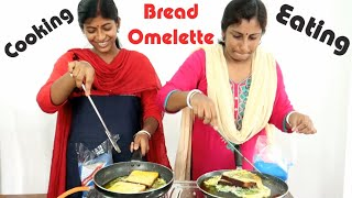 Bread Omelette Cooking & Eating Challenge - Indian Food Eating Competition
