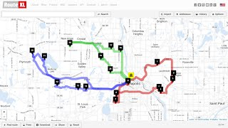 Plan delivery route for multiple drivers