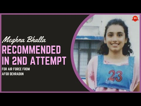 Meghna Bhalla Recommended for Air Force In Her 2nd Attempt Shares Her Story | No Frills Academy