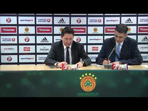Euroleague Post - Game Press Conference: Panathinaikos Superfoods vs FC Barcelona Lassa