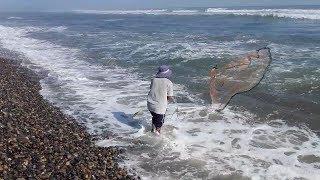 aprende a como tirar y pescar con ATARRAYA  - basico