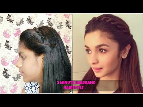 How To Make Alia Bhatt Headband Hairstyles In 2 Min Easy Simple Hairstyle For Medium Long Hair