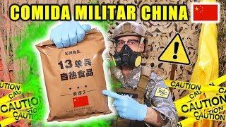 Probando COMIDA MILITAR CHINA CON CARNE VERDE   MRE Menu 13   Curiosidades con Mike