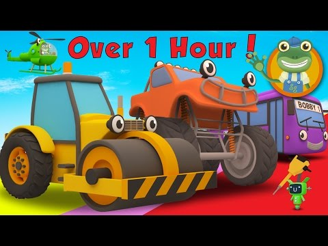 Rick The Road Roller and More Trucks For Children | Gecko's