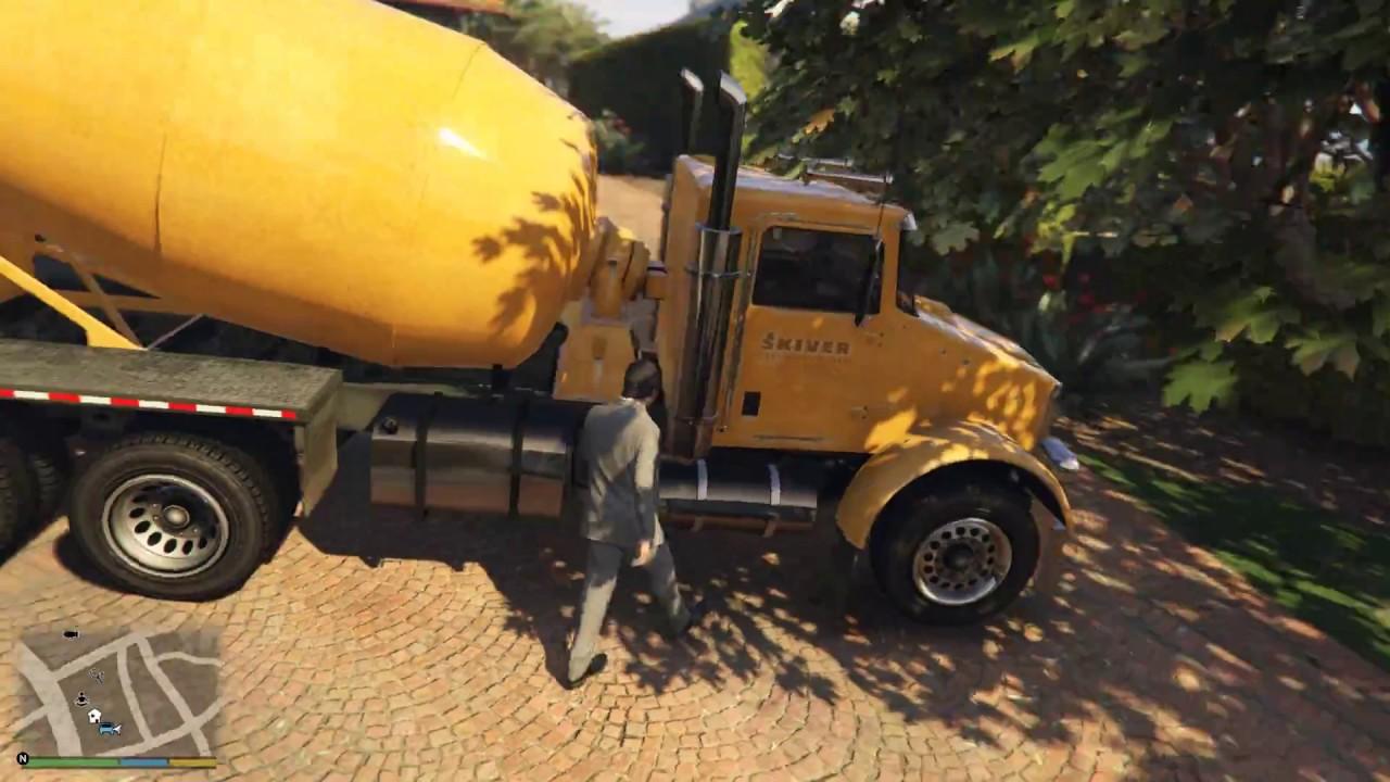 GTA 5 Mod Xe Lu Trộn Xi Măng 400 Mã Lực   Siêu xe zentorno Bị Ăn Hành SML !