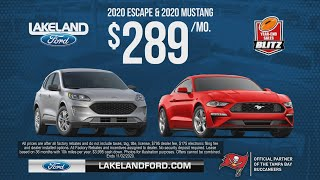 2020 Escape or Mustang just $289/mo @ Lakeland Ford - The Year-End Sales Blitz Saves You More